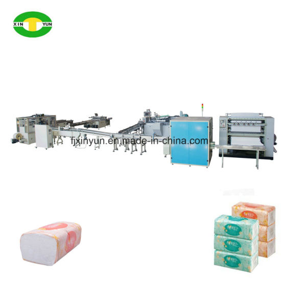 High Speed Automatic Facial Tissue Paper Middle Bag Packing Production Line pictures & photos