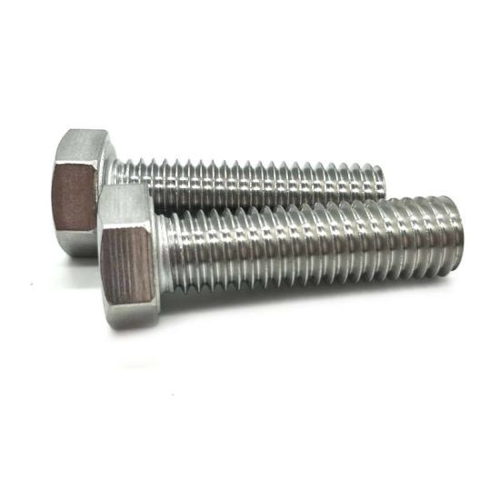 Fastener Carbon Steel 4.8 Grade Zinc DIN933 Full Thread Hex Bolt pictures & photos