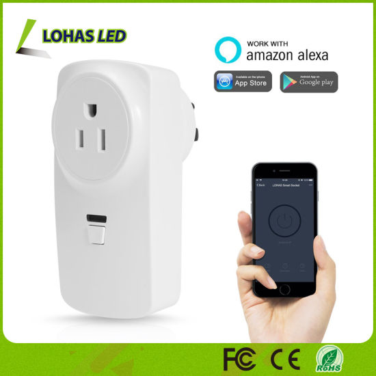 China WiFi Outlet Mini Plug Work with Smartphone/Amazon