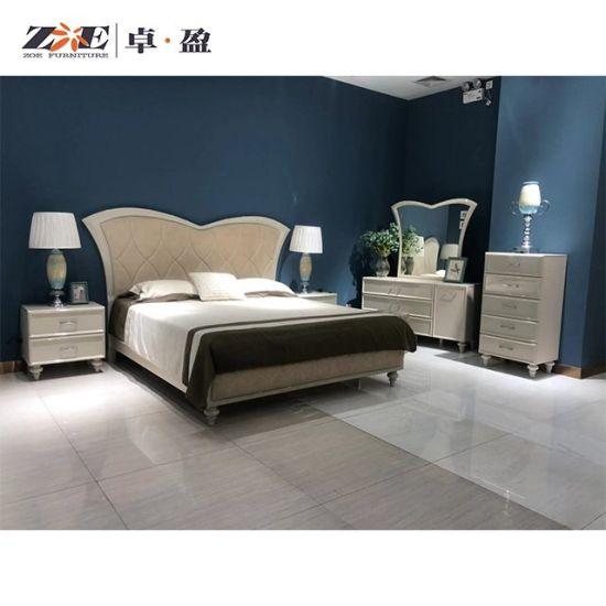 China Bedroom Furniture High Glossy, Cream Bedroom Furniture