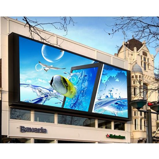 P6 P8 P10 Full Color Wall Mounted Advertising Outdoor LED Display