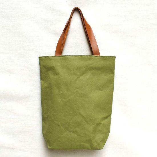Washable Tyvek Kraft Paper Single Shoulder Handbag DuPont Paper Shopping Tote Bag