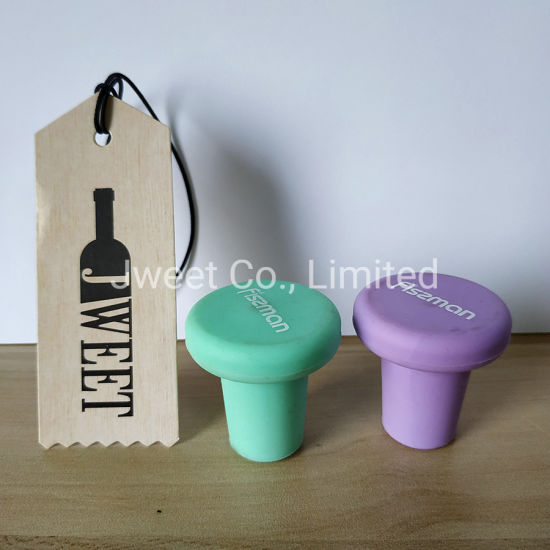 Colorful T Shape Silicone Cork Wine Bottle Usage Cork Stopper