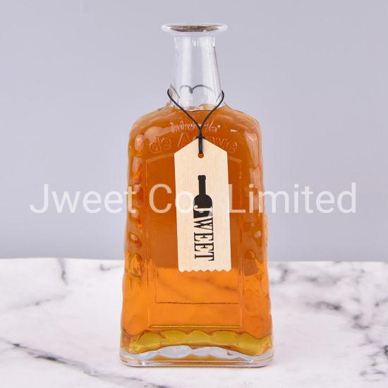 Wholesale Empty 750ml Square Tequila Glass Bottle