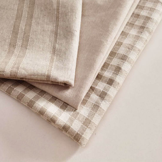 Natural Linen Fabric Woven Fabric for Garments Home Textile Blended Linen Rayon Organic Yarn Dyed