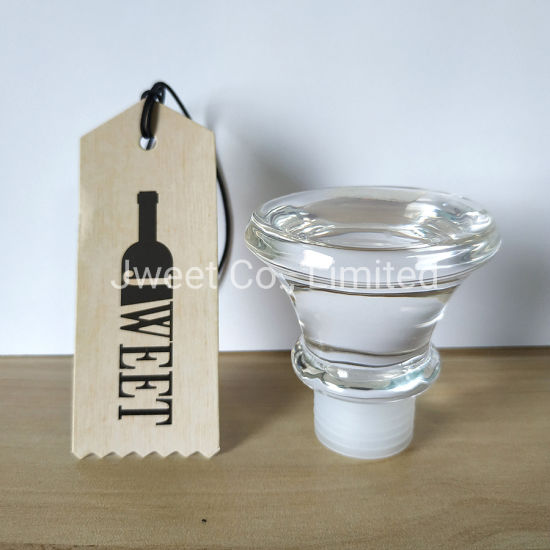 Customized T Shape Glass Stopper Wine Bottle Cork