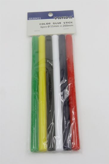 High Temperature Resistance Colored Clean Glue Gun DIY Handcrafts 11*200mm Hot Melt Glue Bar Stick with Hang Card