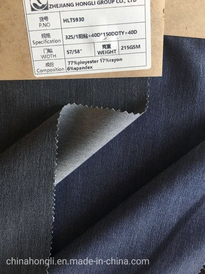 Tr Denim Stretch Fabric with Two Tones Effect for Pants, Dropping