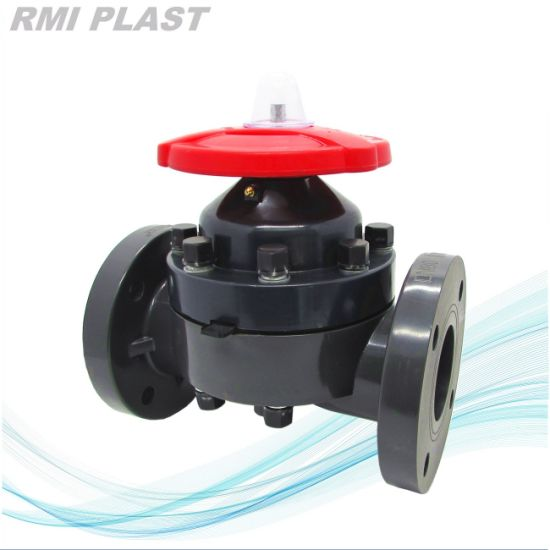 PVDF Pneumatic Diaphragm Valve DIN Pn10 pictures & photos
