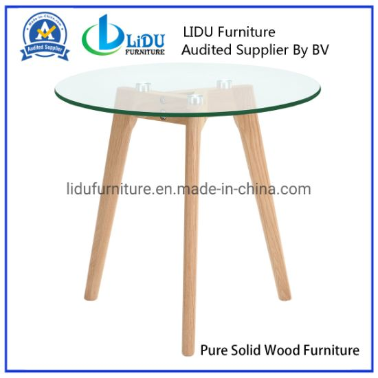 Wooden Round Coffee Tables Simple Side Table Round End Table