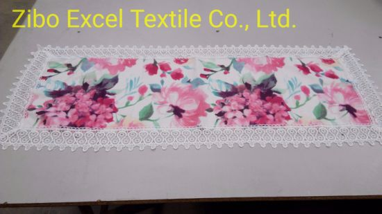 Polyester and Lace Tablecloth, Warm and Comfortable