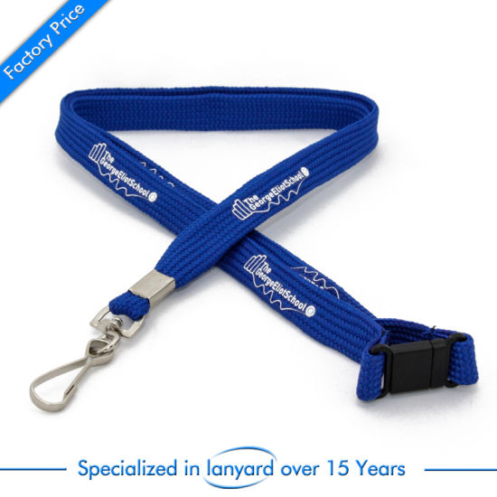 Customized Silk Screen Printed Tubular Lanyard Keychain Medal Adjustable Accessories pictures & photos