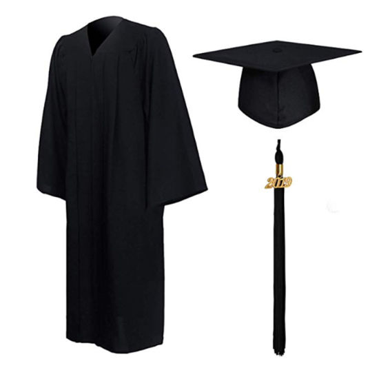 Custom Wholesale Detailed Back Neck Design Bachelor Academic Graduation Gown with Hat Cap&Hood for University College pictures & photos