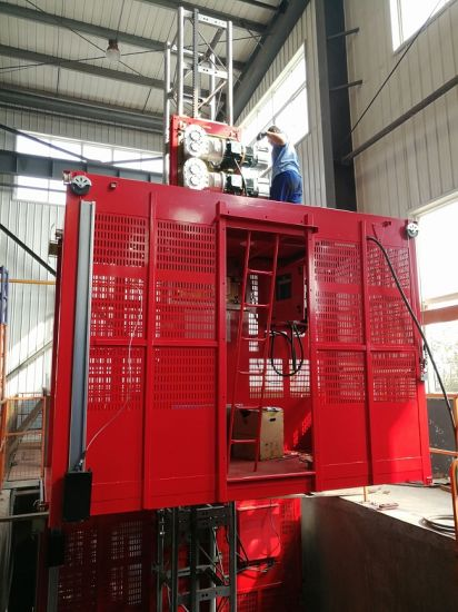 Building Construction Elevator with Double Cages,Construction Lifter Hoist,Bucket Elevatorbuilding Construction Elevator with Double Cages,Construction Lifter