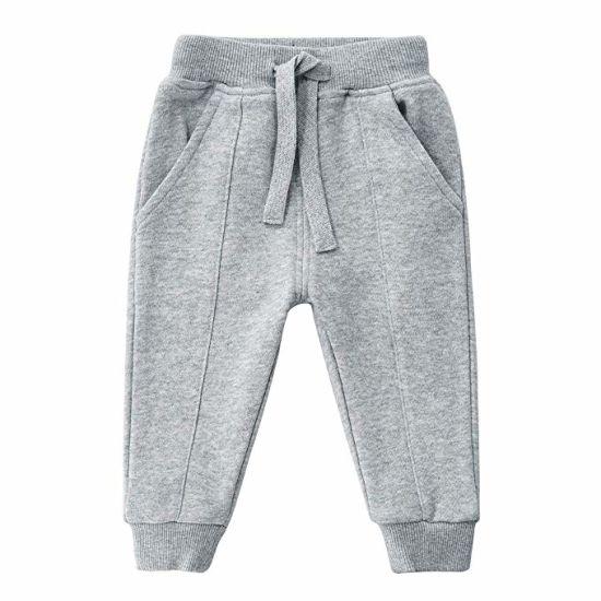 6a4cd96ec2 China Unisex Kids 100% Cotton Drawstring Waist Active Jogger Pants ...