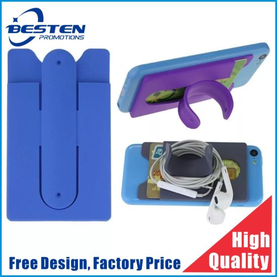 Hot Selling Adhesive Phone Silicone Card Holder 3m Sticker Pouch for Phone