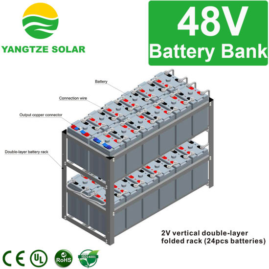 China Yangtze Power 48V 800ah Solar Powered Battery Bank