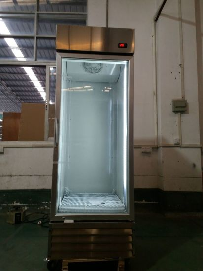 China Glass Door Cold Drink Display Stainless Steel Commercial