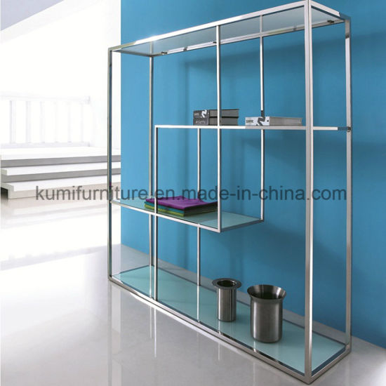 Fashion Hotel Style White Glass Display Unit