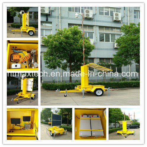 Solar Powered Portable PTZ Camera Surveillance for Road Safety Traffic Management Property Security pictures & photos