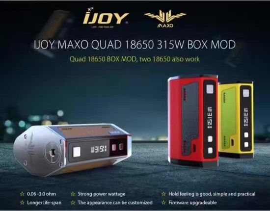 Ijoy Maxo 315W Tc E Cigarette Box Mod a&D Industries China