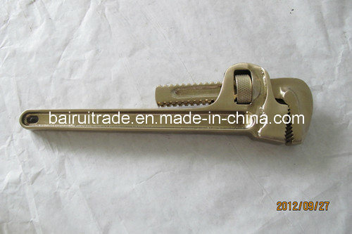"4""-48"" Pipe Wrench Non Sparking Tools Brass Pipe Wrench pictures & photos"