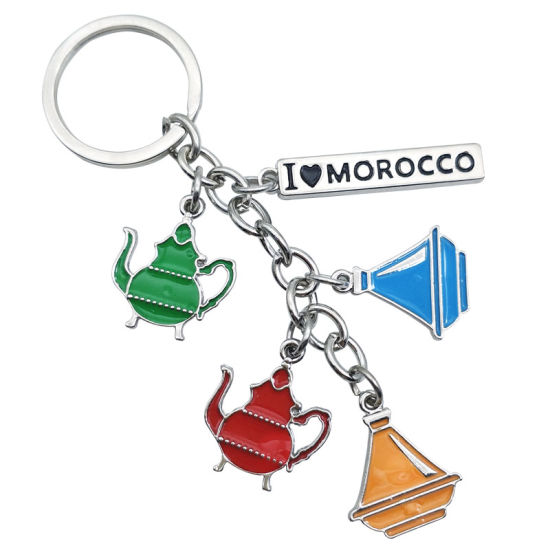 Morocco Pot Metal Keychain The Metal Charm Keychain Key Tag