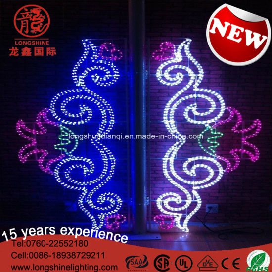 LED IP65 Happy National Day Pole Rope Decoration Light for Outdoor Lighting pictures & photos
