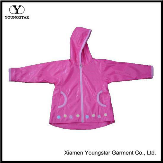 ef7960970fcc China Rain Jacket Baby Girl Pink PVC Kids Girls Raincoat - China ...