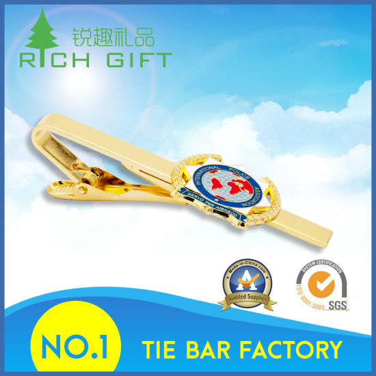 Customized Metal Gold Tie Clips for Promotional Gift No Minimum pictures & photos