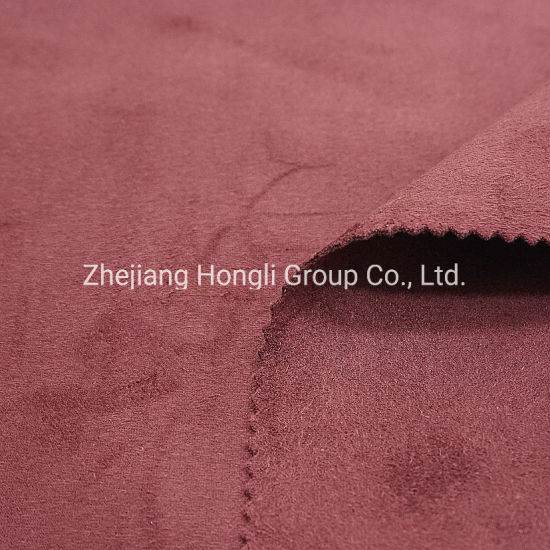 Fabric, Micro Fibre Suede 90%Polyester 10%Spandex 4 Way Stretch Soft Handle Fabric for Coat