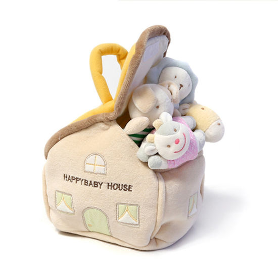 Plush Baby Rattle Plush Baby Toy with House