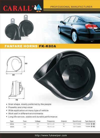 K80A Auto Spare Parts Original Brand Buzina Powerful Magic Voice Ring Tone 12V Car Accessories Speaker Snail Horn pictures & photos