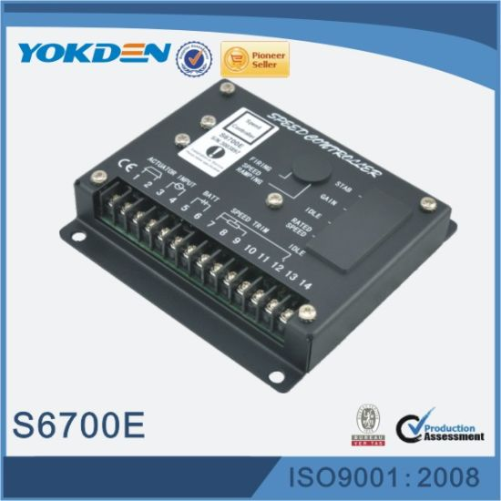 China S6700e Generator Spare Parts Speed Controller - China