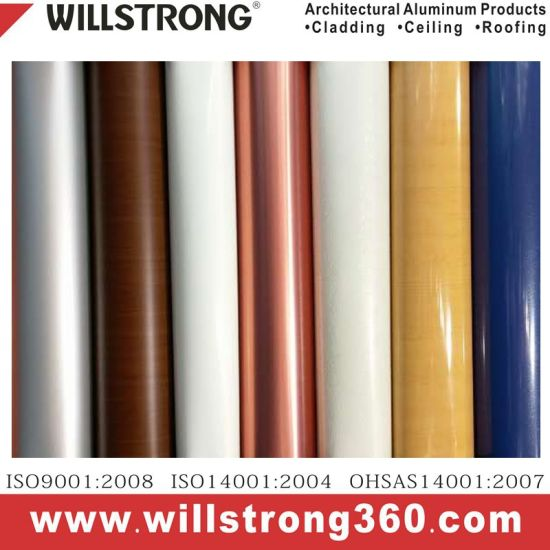 PVDF/Feve/Pet Color Coated Aluminum Coils for Ceiling/Roofing and ACP/Ahp Production pictures & photos