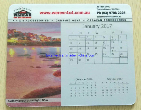 2020 Mouse Pad Calendar for Gift