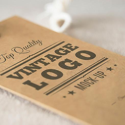 High Quality Hot Sale Clothing Hang Tag Black Garment Paper Tags