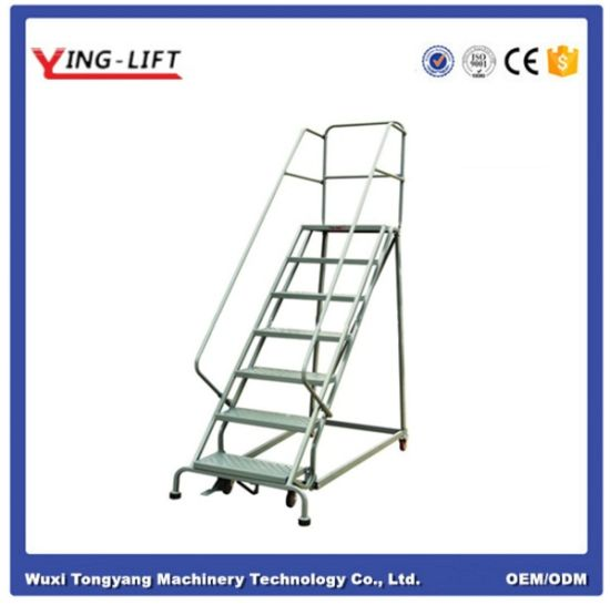 High Level Goods Pick up Rolling Ladders pictures & photos