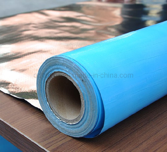 Anti-Glare Woven Cloth Aluminum Foil Thermal Material for Metal Roof