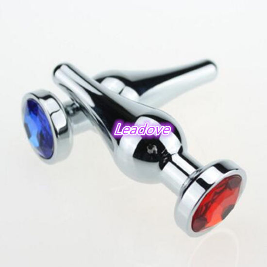 1PCS/Lot Round Shaped Stainless Steel Crystal Jewelry Anal Plug Sex Toys Medium Size 30mm X 86mm Sex Toys Sex Product for Female pictures & photos
