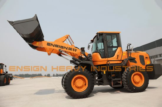 3 Ton Wheel Loader Front End Loader Ensign Wheel Loader Yx636 with Joystick pictures & photos