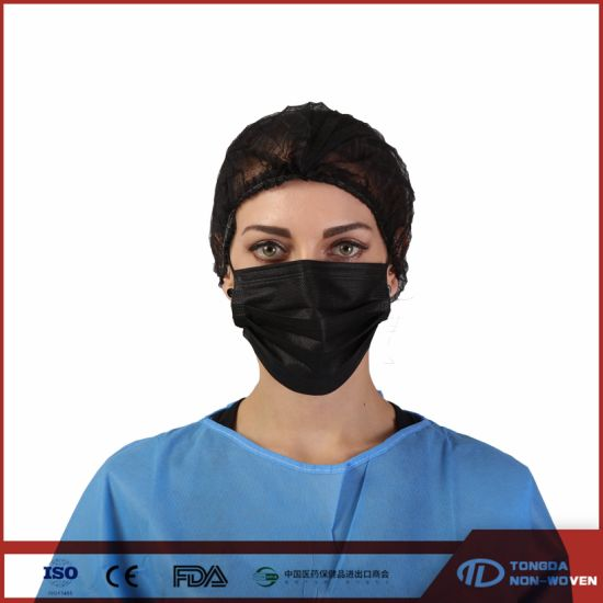 Black Personal Protection 3ply Disposable Face Mask