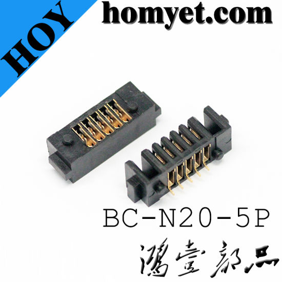 New Arrival Vertical SMT 5pin Gold-Plating Battery Connector for Notebook PC pictures & photos