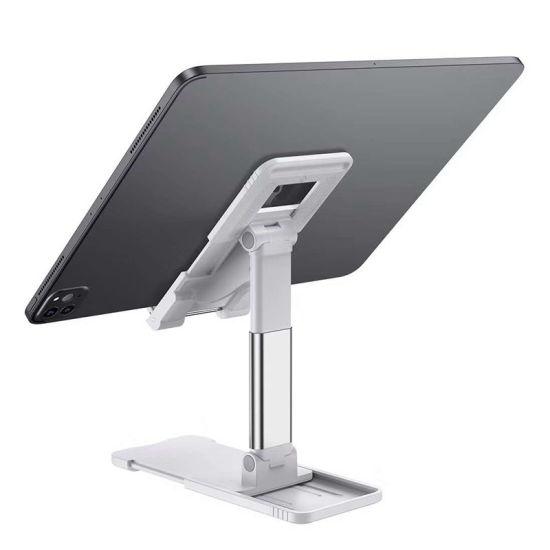 Flexible Cell Phone Holder One-Piece Folding Tablet Holder on Desktop