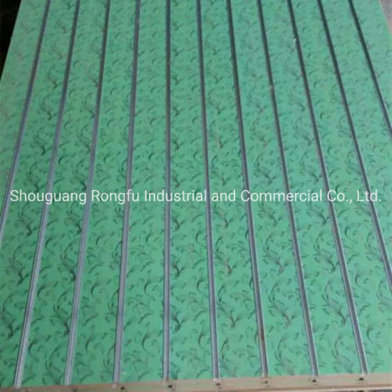 Factory Groove Melamine Laminated Slots MDF Board for Goods Display