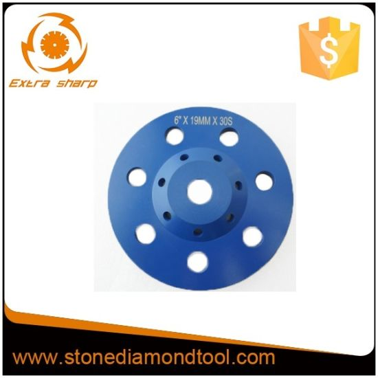 6′′ Concrete Cup Diamond Grinding Wheels with Arbor M14, 5/8-11 pictures & photos
