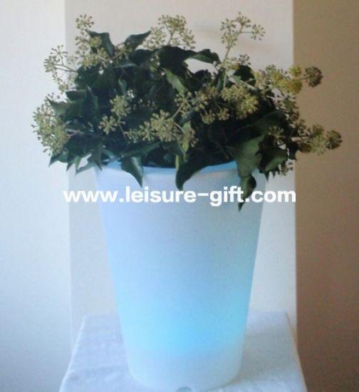 Hangzhou Fly-Ocean Import \u0026 Export Co. Ltd. & China Fo-9523 LED Light Flower Pot Lighted Outdoor Flower ...