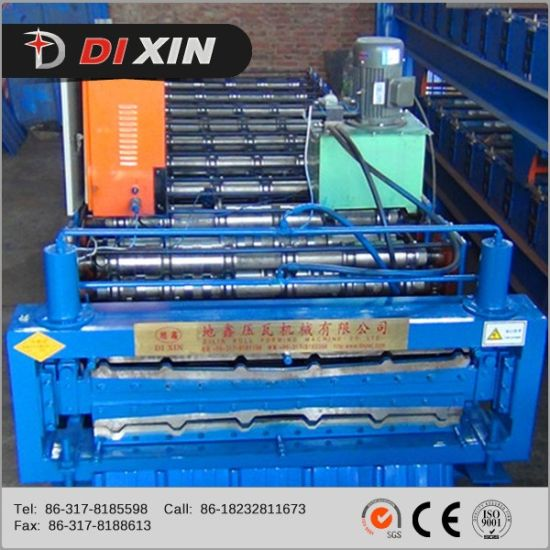 Arc Cut Double Metal Roof Sheet Panel Bend Machine Roll Forming Machine pictures & photos