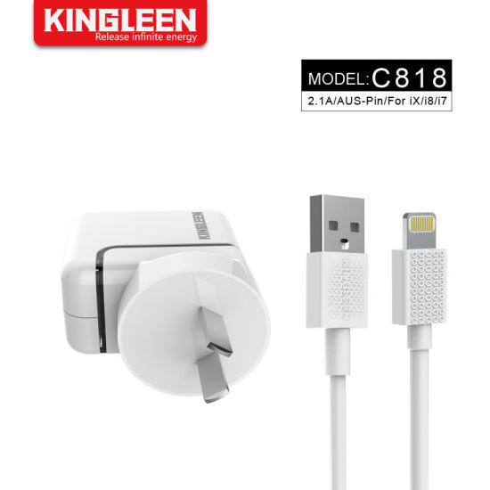 3FT Lightning Charging Cable + 10W USB Home Wall Travel Adapter Charger Kit for iPhone X 8 7 6 Plus