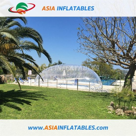 PVC Protective Inflatable Transparent Bubble Tent/Swimming Pool Cover for Swimming Pool